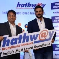 Actor R Madhavan roped in as the brand ambassador for hathway broadband (L-R) Mr. Rajan Gupta - M.D Hathway, R Madhavan.