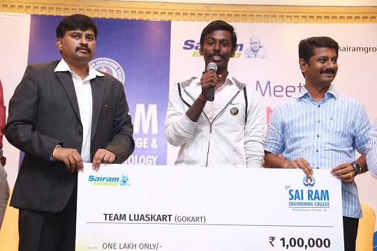 Sri Sairam Engineering College, Chennai Recognizion of of Students' Achivements