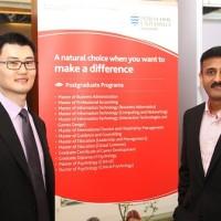 Left to right - Andrew chew , Director marketing, James Cook University, Singapore. Dr. Abhishek Bhati,Campus Dean, James Cook University