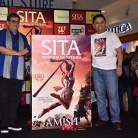 Subhash Ghai and Amish Tripathi at launch of Sita-Warrior of Mithila