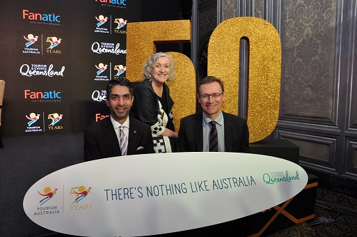 1 - Abhinav Bindra and John O'Sullivan, Managing Director, Tourism Australia...