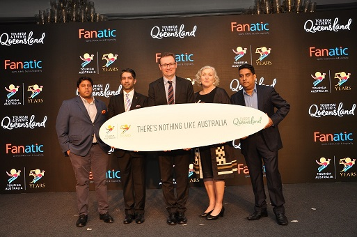 2 - Abhinav Bindra and John O'Sullivan, Managing Director, Tourism Australia...