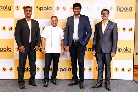From L to R Mr Armstrong Varghese, GM - Operations and Marketing_ Shibu Thampan, Corporate Chef_ Sushil Kanugolu, MD and CEO, Fipola_ M. Chandrakant, Chief Operating Officer, Fipola