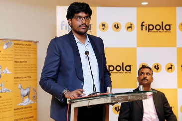 Sushil Kanugolu, MD and CEO, Fipola addressing press conference today to announce the launch of Fipola