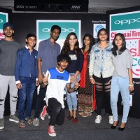 Winners of Chennai open audition for OPPO Times Fresh Face 2017 with Actrees Sanjana Singh