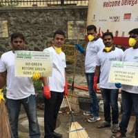 Indiabulls Home Loans Chennai employees cleaning up their office and surrounding areas as a part of their Diwali clean up