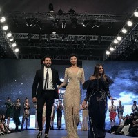 Designer Falguni & Shane Peacock with Diana Penty at Kohler Delhi Times Lifestyle Week