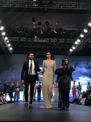 Designer Falguni & Shane Peacock with Diana Penty at Kohler Delhi Times Lifestyle Week