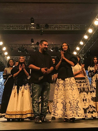 Designer Siddartha Tytler showcasing his collection at Kohler Delhi Times Lifestyle Week