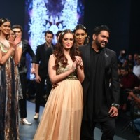 EvelynSharma with fashion designer Rocky Star