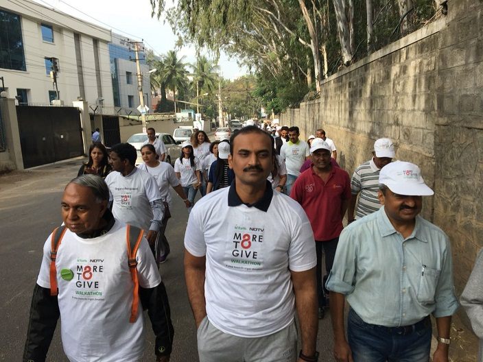Fortis hospital doctors taking part in the walkathon