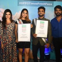 Winner of OPPO Times Fresh Face – Chennai with Director Vignesh Shivan, Actress Aathmika and Model Pradhayini