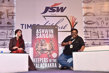 Ashwin Sanghi launched the trailer of the much awaited Keepers of the Kalachakra with Sonali Bendre at Times Literature Festival