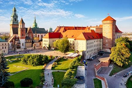 Krakow - Wawel castle at day, Poland