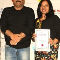 Nivedta Nayak, Regional HR manger, Amway India receives award from Employer Branding Institute