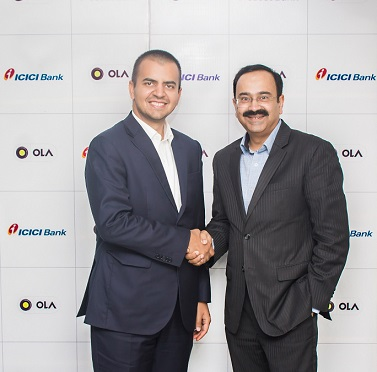 Bhavish Aggarwal, Co-Founder and CEO of Ola and Anup Bagchi, Executive Director, ICICI Bank