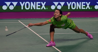 Michelle Li during the trump match for North Eastern Warriors during their first match in Chennai