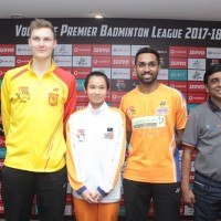 World No 1s_ Victor Axelsen (Men's Singles) and Tai Tzu (Women's Singles) along with HS Pronnay of Ahmedabad Smash Masters as Vodafone PBL reached Chennai for the very first time