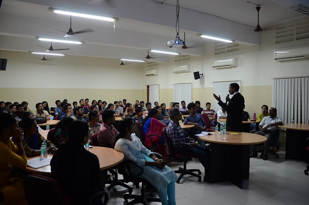 Dr. C. Sylendrababu addressing the students