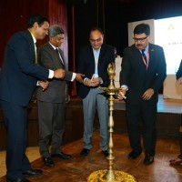 Mr.Naveen Soni among other dignitaries at the inaguuration of Toyota's safety education program event helf at IIT Delhi