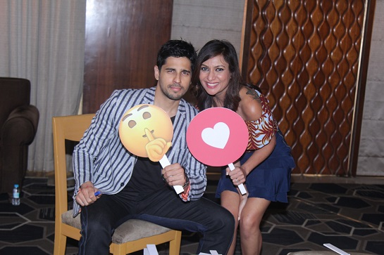 Sidharth & Malini on the sets of Inside Access