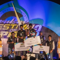 Stunters Winner_center 1st place- Karthikeyan,Left 2nd place Kalai Tamizhan, Right 3rd place Vivek