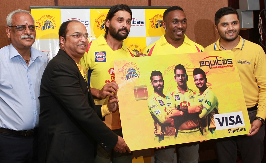 Equitas - Yellow Army Visa Card Launch Photo