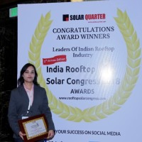Shivi Jindal, Sales Manager, Solar Energy North, Fronius India receiving...