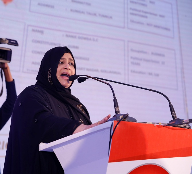 Dr Nowhera Shaik, President, All India Mahila Empowerment Party