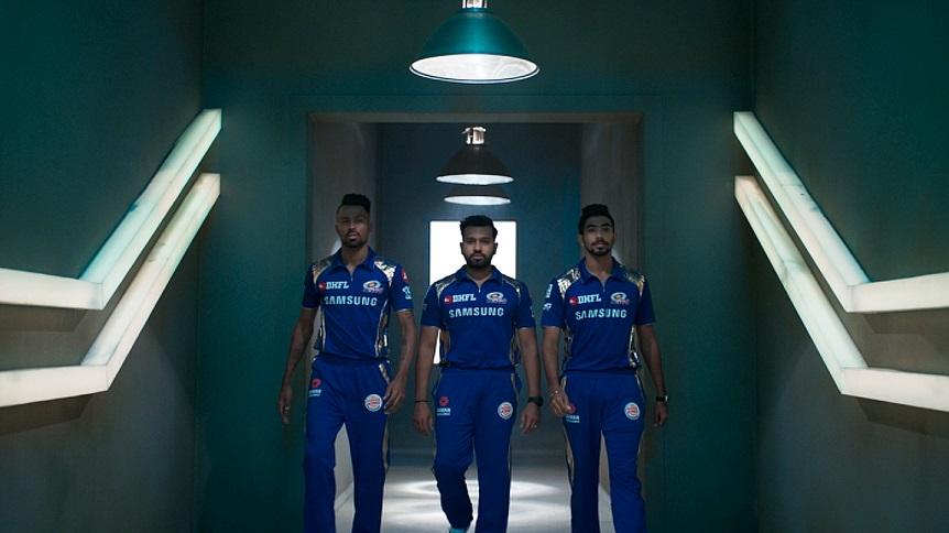 Picture 1 - Mumbai Indians' Rohit Sharma, Hardik Pandya & Jaspreet Bumrah in Goibibo's promotion