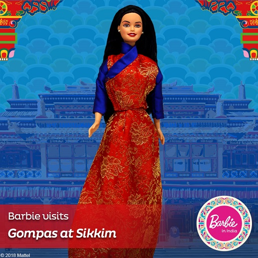 Barbie in India-Barbie Visits the Gompas at Sikkim