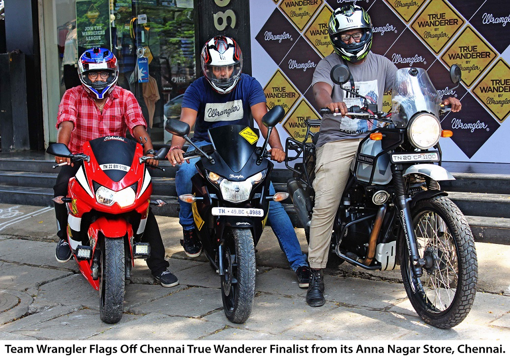 Image 1 Wrangler Flags off the True Wanderers from Chennai