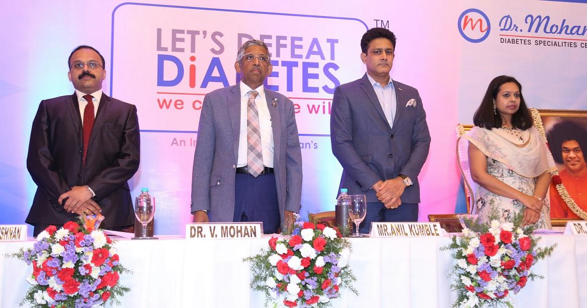 Mr. Anil Kumble, Dr V. Mohan, Dr. R.M. Anjana and Dr. Ranjit Unnikrishnan