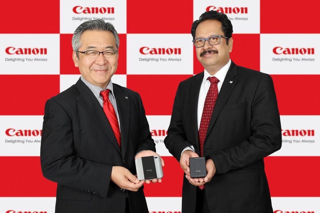 Mr. Kazutada Kobayashi, President & CEO, Canon India and Mr. K. Bhaskhar..._1