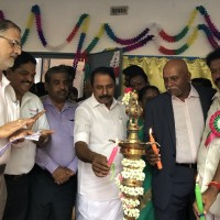 Minister of School Education along with Mr Gopi Natarajan - CEO-Omega Healthcare inaugrating the science lab (2)