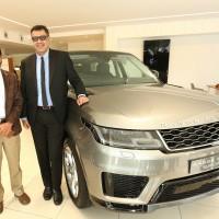 Mr. Rohit Suri, Jaguar Land Rover India Ltd along with Mr. VT Ravindra ,VST Grandeur at the new retailer facility launch in Chennai