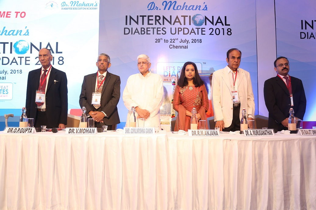 Shri. Gopalkrishna Gandhi, Former Governor of West Bengal and Bihar, inaugurates fifth edition of Dr. Mohan's International Diabetes Update