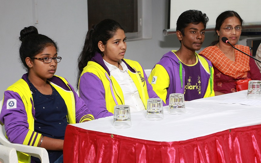 From left to right - Nishchita Bandekar_ Pavithra Anup_ Rajesh Viswa Sudhan_ Sindhu, PG Teacher, Atomic Energy Central School, Kudankulam
