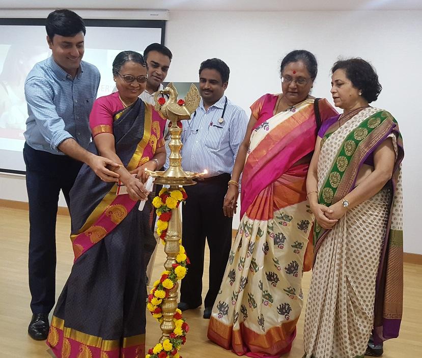 Mrs. Joyce Jayaseelan trained 150 nurses from Fortis Hospitals, Bannerghatta road on nursing