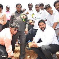 Palm seed plantation at Nedungundram Lake Dr Dev Anand secretary, AnnaiVeilankannais group of education and Fr. Jagath Gasper founder of PalmyraNation
