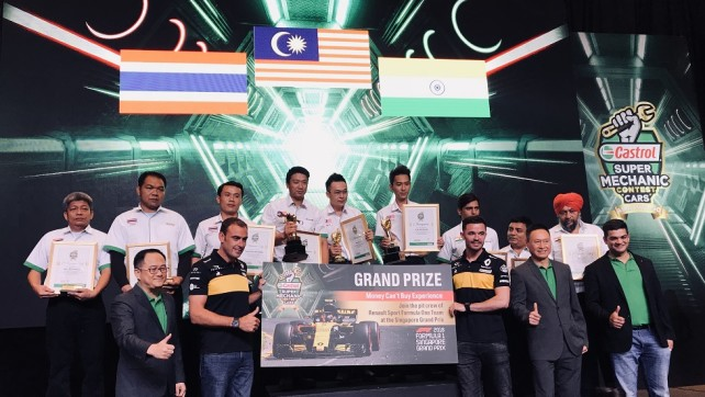 Team India Get Podium Finish at Castrol Asia Pacific's Super Mechanic Cars Contest 2018