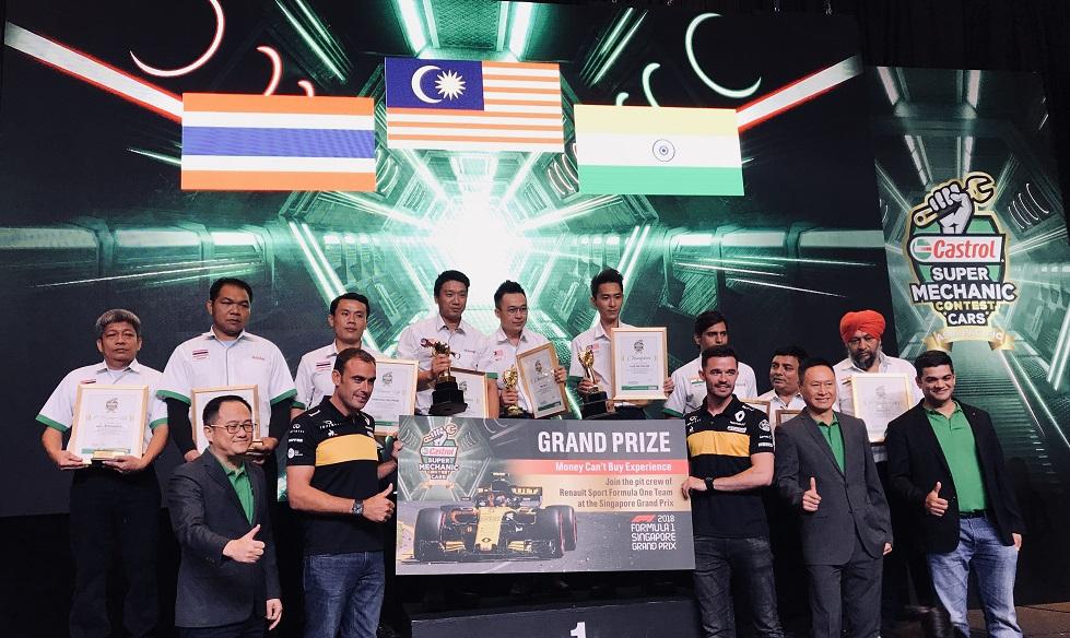 Castrol Super Mechanic Cars APAC Winners