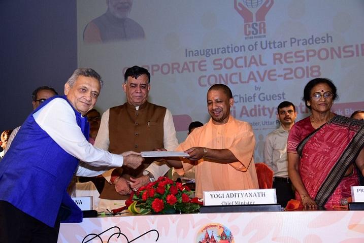 Mr Lalit Khaitan with Honerable CM Yogo Adityanath