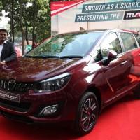 Mr. Hari, Regional Sales Manager, Tamil Nadu launch the Mahindra's MARAZZO car at Chennai