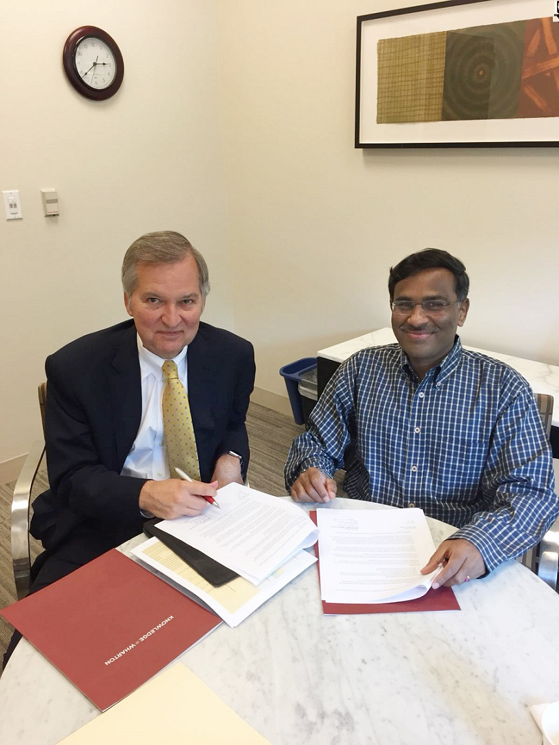 Mr. Vikram Limaye, MD & CEO, NSE and Dr. Michael R. Gibbons, Deputy Dean...
