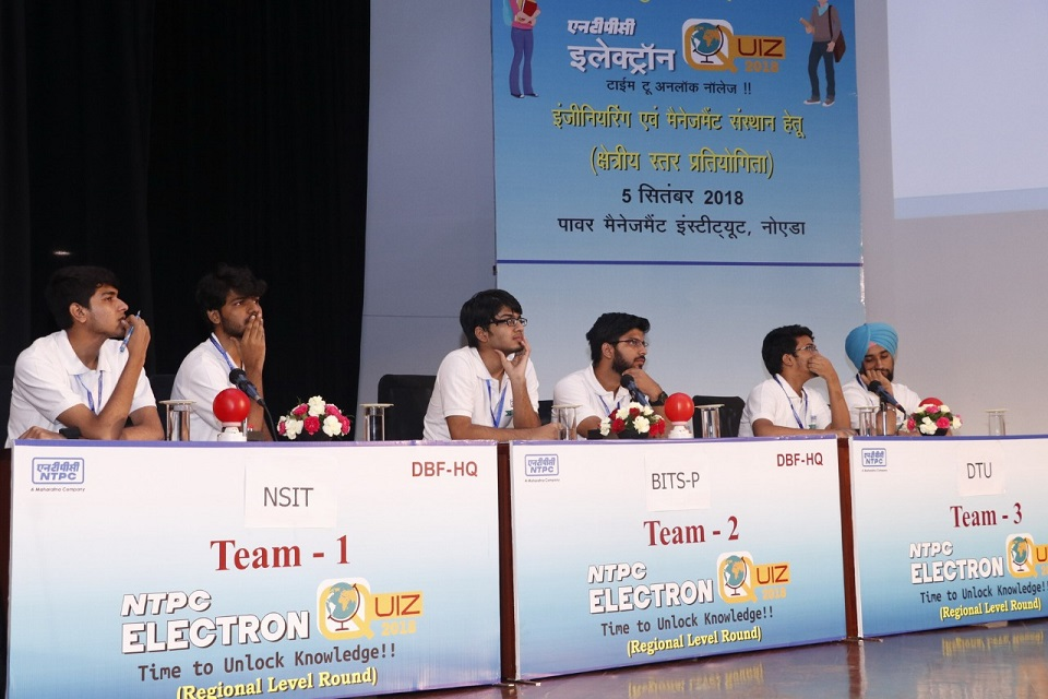 Pic-2 Participants at the NTPC Electron Quiz in Delhi NCR