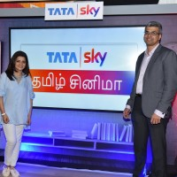 Arun Unni, Chief Content Officer, Tata Sky and Actress Divya Darshini at Tata Sky Tamil Cinema launch event