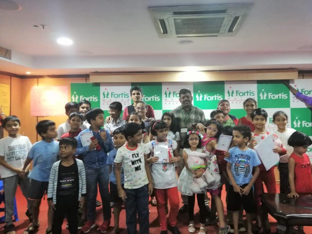 Children with Dr Jayashree Jayakrishnan and Mr. Pitchiah Kasinathan