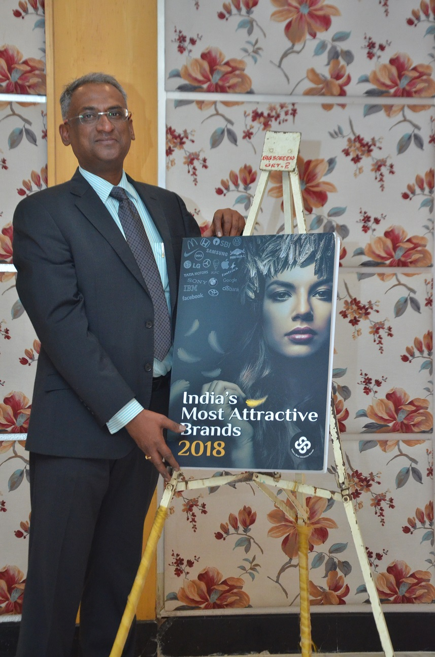 N. Chandramouli, CEO, TRA Research launched India's Most Attractive Brands 2018 (1)