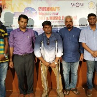 L-R-Photo-Mr.Hari, Branding Partner. Dr.Jayakumar, Psychiatrist. Mr.Dilli Babu, Psychologist, Program Director. Mr.Viswam, National Awardee Artist. Mr.Prabhuhnan, Cinematographer